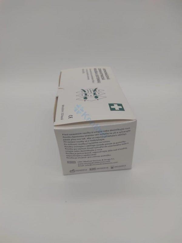 CMC facemask box side photo